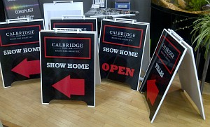 A-frame Crezon sandwich boards - Calgary