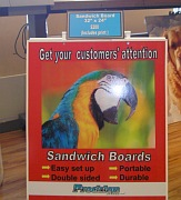 Plywood Calgary sandwichboard sign