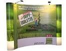 Popup display curved aluminum