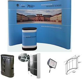 Tradeshow Popup display curved aluminum