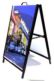 Metal Calgary A-frame sandwich boards